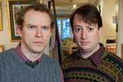 That Mitchell And Webb Look. Image shows from L to R: Robert Webb, David Mitchell. Image credit: British Broadcasting Corporation.
