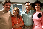 The Good Life. Image shows from L to R: Tom Good (Richard Briers), Barbara Good (Felicity Kendal), Jerry Leadbetter (Paul Eddington), Margo Leadbetter (Penelope Keith). Image credit: British Broadcasting Corporation.