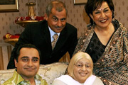 The Kumars At No. 42. Image shows from L to R: Sanjeev Kumar (Sanjeev Bhaskar), Dad (Vincent Ebrahim), Ummi (Meera Syal), Mum (Indira Joshi). Image credit: Hat Trick Productions.