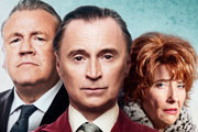 The Legend Of Barney Thomson. Image shows from L to R: Holdall (Ray Winstone), Barney (Robert Carlyle), Cemolina (Emma Thompson).