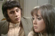 The Lovers. Image shows from L to R: Geoffrey (Richard Beckinsale), Beryl (Paula Wilcox). Image credit: Granada Television.