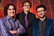 The Mad Bad Ad Show. Image shows from L to R: Micky Flanagan, Mark Dolan, Mark Watson. Copyright: Objective Productions.
