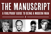 The Manuscript. Image shows from L to R: Nick Hancock, Clive Anderson, Andi Osho, Andrew Maxwell. Copyright: TBI Media Productions.