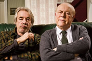 The Old Guys. Image shows from L to R: Tom (Roger Lloyd-Pack), Roy (Clive Swift). Image credit: British Broadcasting Corporation.