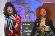 The Pall Bearer's Revue. Image shows from L to R: Jerry Sadowitz, Dreenagh Darrell. Copyright: BBC.