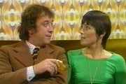 The Upchat Connection. Image shows from L to R: Mike Upchat (Robin Nedwell), Maggie (Susan Jameson). Copyright: Thames Television.