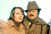 To The Manor Born. Image shows from L to R: Audrey fforbes-Hamilton (Penelope Keith), Richard DeVere (Peter Bowles). Image credit: British Broadcasting Corporation.
