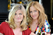 Trinny & Susannah: From Boom To Bust. Image shows from L to R: Susannah (Susannah Constantine), Trinny (Trinny Woodall). Copyright: T5M Studios.