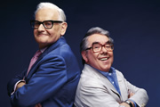 The Two Ronnies Spectacle. Image shows from L to R: Ronnie Barker, Ronnie Corbett. Copyright: North One Television.