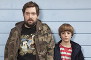 Uncle. Image shows from L to R: Andy (Nick Helm), Errol (Elliot Speller-Gillott). Image credit: Baby Cow Productions.