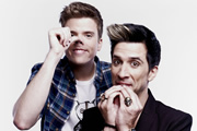 Unzipped. Image shows from L to R: Greg James, Russell Kane. Image credit: Talkback.