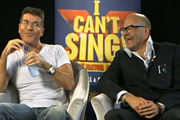Image shows from L to R: Simon Cowell, Harry Hill.