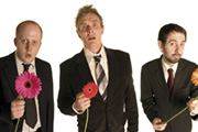We Are Klang. Image shows from L to R: Marek Larwood, Greg Davies, Steve Hall. Copyright: BBC.