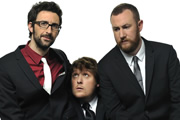 We Need Answers. Image shows from L to R: Mark Watson, Tim Key, Alex Horne. Image credit: British Broadcasting Corporation.