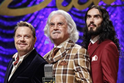 What About Dick?. Image shows from L to R: Eddie Izzard, Billy Connolly, Russell Brand.
