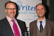 Writers' Guild Of Great Britain Awards. Image shows from L to R: Sam Bain, Jesse Armstrong.