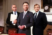 Yes, Prime Minister. Image shows from L to R: Sir Humphrey Appleby (Nigel Hawthorne), James Hacker (Paul Eddington), Bernard Woolley (Derek Fowlds). Image credit: British Broadcasting Corporation.