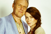 You, Me & Them. Image shows from L to R: Ed Walker (Anthony Head), Lauren Grey (Eve Myles). Copyright: Hat Trick Productions.