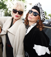 Absolutely Fabulous. Image shows from L to R: Patsy (Joanna Lumley), Edina (Jennifer Saunders). Image credit: Saunders And French Productions.