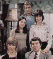...And Mother Makes Five. Image shows from L to R: Sally Redway (Wendy Craig), Jane Redway (Maxine Gordon), Simon Redway (Robin Davies), David Redway (Richard Coleman), Peter Redway (David Parfitt). Image credit: Thames Television.