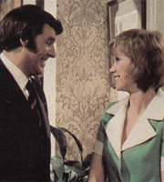...And Mother Makes Three. Image shows from L to R: David Redway (Richard Coleman), Sally Harrison (Wendy Craig). Image credit: Thames Television.