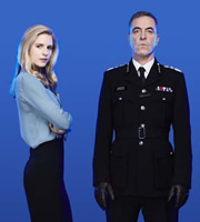 Babylon. Image shows from L to R: Liz Garvey (Brit Marling), Richard Miller (James Nesbitt). Image credit: Nightjack.