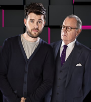 Backchat. Image shows from L to R: Jack Whitehall, Michael Whitehall. Image credit: Tiger Aspect Productions.