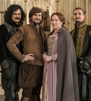 Bill. Image shows from L to R: Simon Farnaby, Mathew Baynton, Martha Howe-Douglas, Ben Willbond. Image credit: BBC Films.