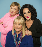Birds Of A Feather. Image shows from L to R: Sharon Theodopolopodous (Pauline Quirke), Tracey Stubbs (Linda Robson), Dorien Green (Lesley Joseph). Image credit: Alomo Productions.