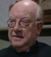 Bless Me, Father. Father Charles Clement Duddleswell (Arthur Lowe). Image credit: London Weekend Television.