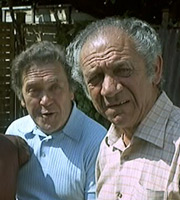 Bless This House. Image shows from L to R: Trevor Lewis (Peter Butterworth), Sid Abbot (Sid James). Image credit: Peter Rogers Productions.
