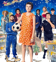 The Boy In The Dress. Image shows from L to R: Miss Windsor (Jennifer Saunders), Mr Norris (James Buckley), Jaspreet (Meera Syal), Dennis (Billy Kennedy), Lisa (Temi Orelaja), Kate Moss, Referee (David Walliams), Mr Hawthorn (Tim McInnerny). Image credit: British Broadcasting Corporation.