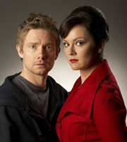 Boy Meets Girl. Image shows from L to R: Danny Reed (Martin Freeman), Veronica Burton (Rachael Stirling). Image credit: Granada Productions.