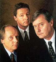 Bremner, Bird And Fortune: The Daily Wind Up. Image shows from L to R: John Bird, Rory Bremner, John Fortune. Image credit: Vera Productions.