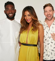 Bring The Noise. Image shows from L to R: Tinie Tempah, Nicole Scherzinger, Ricky Wilson. Image credit: Twenty Six 03.
