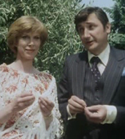 Butterflies. Image shows from L to R: Ria Parkinson (Wendy Craig), Leonard Dunn (Bruce Montague). Image credit: British Broadcasting Corporation.