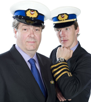 Cabin Pressure. Image shows from L to R: Douglas (Roger Allam), Martin (Benedict Cumberbatch). Image credit: Pozzitive Productions.