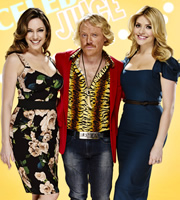 Celebrity Juice. Image shows from L to R: Kelly Brook, Keith Lemon, Holly Willoughby. Image credit: Talkback.