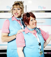 Melody and Keeley. Image shows from L to R: David Walliams, Matt Lucas.