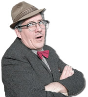Count Arthur Strong's Radio Show!. Count Arthur Strong (Steve Delaney). Image credit: Komedia Entertainment.