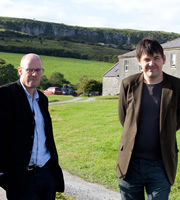 Father Ted: Unintelligent Design. Image shows from L to R: Arthur Mathews, Graham Linehan. Copyright: Hat Trick Productions.