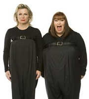 French And Saunders. Image shows from L to R: Jennifer Saunders, Dawn French. Image credit: British Broadcasting Corporation.
