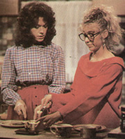Full House. Image shows from L to R: Marsha Hatfield (Sabina Franklyn), Diana (Natalie Forbes). Image credit: Thames Television.