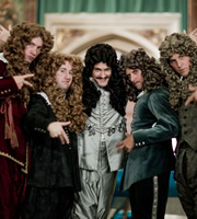 Horrible Histories. Image shows from L to R: Lawry Lewin, Jim Howick, Mathew Baynton, Laurence Rickard, Ben Willbond. Image credit: Lion Television.