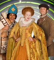 Horrible Histories. Image shows from L to R: Mathew Baynton, Martha Howe-Douglas, Laurence Rickard. Copyright: Lion Television / Citrus Television.