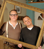 House Of Fools. Image shows from L to R: Vic (Vic Reeves), Bob (Bob Mortimer). Image credit: British Broadcasting Corporation.