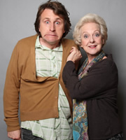 Image shows from L to R: Milton Jones, Susie Blake.