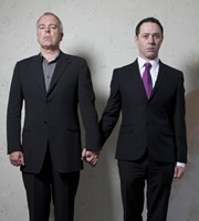 Inside No. 9. Image shows from L to R: Steve Pemberton, Reece Shearsmith. Image credit: British Broadcasting Corporation.
