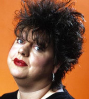Jo Brand Through The Cakehole. Jo Brand. Image credit: Channel X.