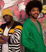 The Johnny & Inel Show. Image shows from L to R: Inel Tomlinson, Johnny Cochrane. Image credit: Princess Productions.